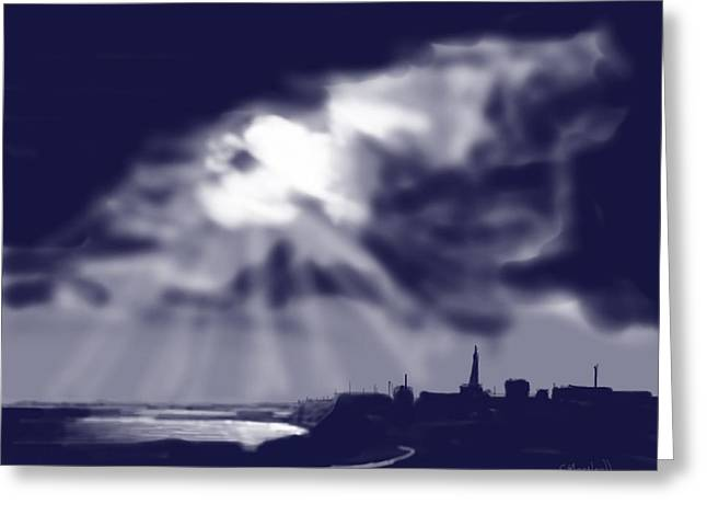 Stormy Sky Over Bridlington Greeting Card by Glenn Marshall