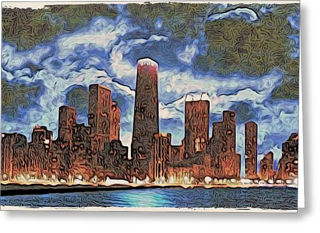 Stormy Skyline Greeting Card by Philip White