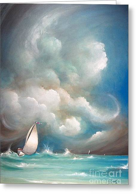 Stormy Sunday Greeting Card by S G