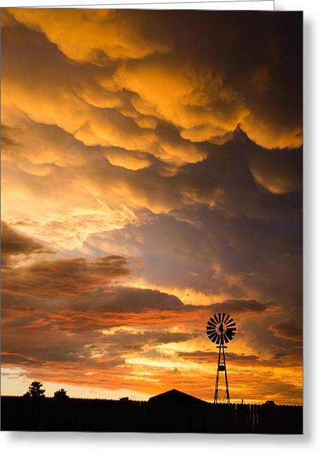 Stormy Sunrise Greeting Card