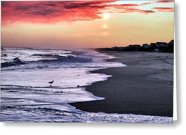 Stormy Sunset Greeting Card by Patricia Januszkiewicz