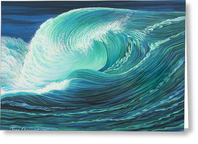 Stormy Wave Greeting Card