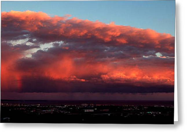 Stormy Weather At Sunset, Cannes Greeting Card by Panoramic Images