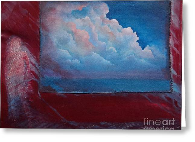 Stormy Weather Greeting Card by Cynthia Vaught