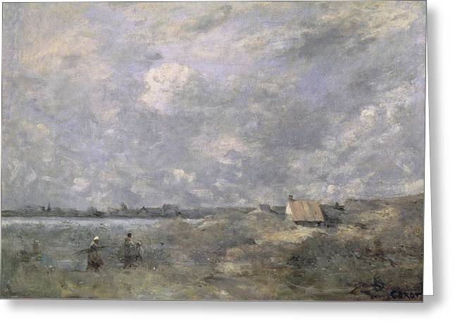 Stormy Weather, Pas De Calais Greeting Card by Jean Baptiste Camille Corot
