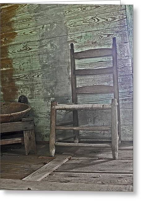 Story Chair Greeting Card by Cheri Randolph