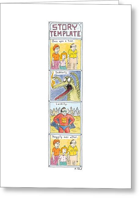 Story Template Greeting Card
