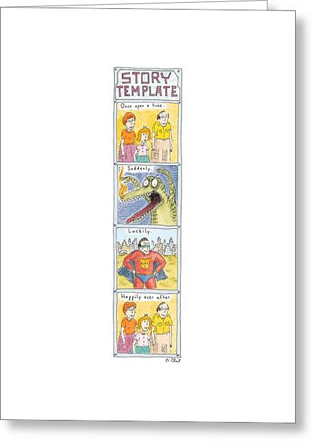Story Template Greeting Card by Roz Chast