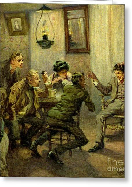 Storyteller 1910 Greeting Card by Padre Art
