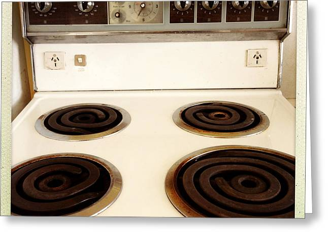 Stove Top Greeting Card by Les Cunliffe