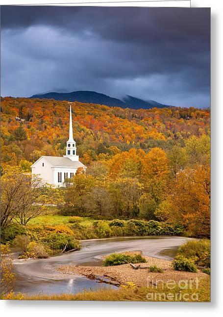 Stowe Church Greeting Card by Brian Jannsen