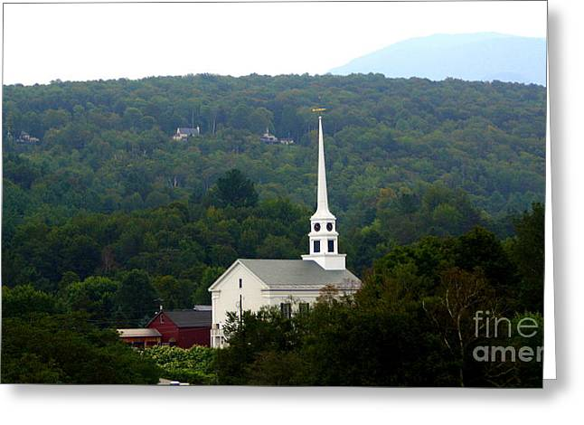 Stowe Community Church Greeting Card by Patti Whitten