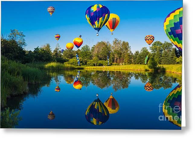 Stoweflake Hot Air Balloon Festival Greeting Card