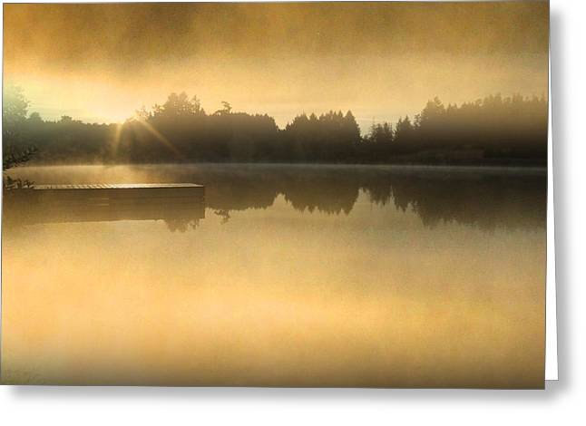 Stowell Lake On Salt Spring Island Greeting Card by Lyn  Perry