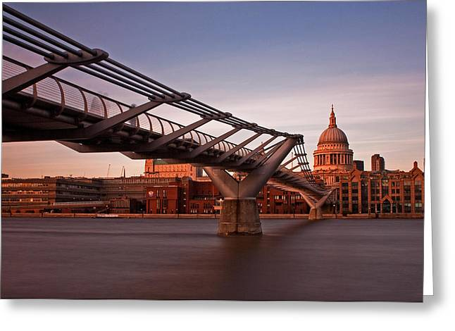St.paul's From The South Bank Greeting Card