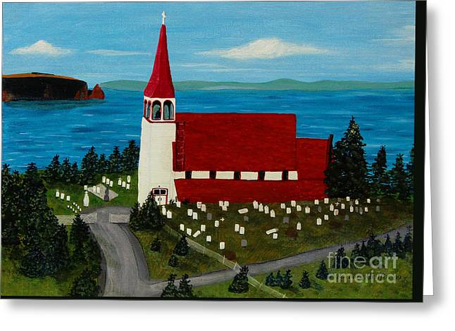 St.philip's Church 1999 Greeting Card by Barbara Griffin