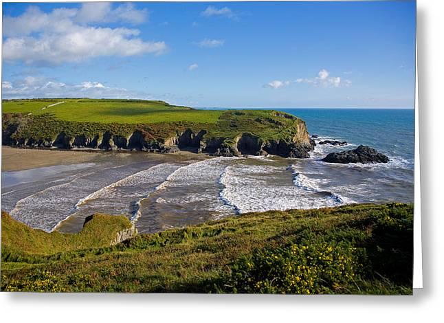 Stradbally Strand, The Copper Coast Greeting Card by Panoramic Images
