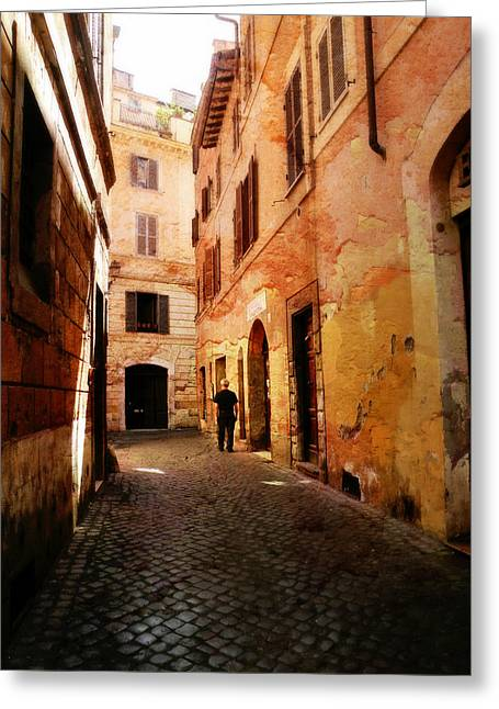 Greeting Card featuring the photograph Strade Di Ciottoli by Micki Findlay