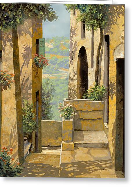 stradina a St Paul de Vence Greeting Card
