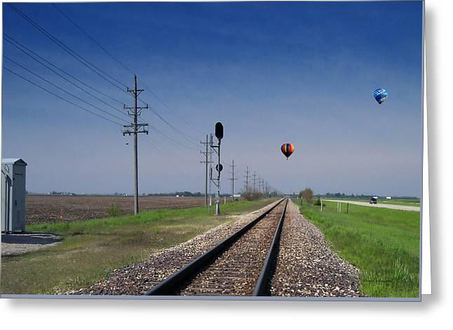Straight As A Rail 03 Greeting Card