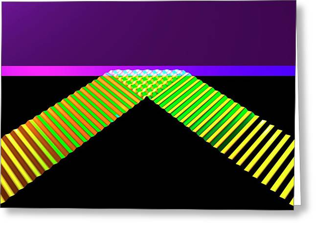Straight Wave Reflection Greeting Card by Russell Kightley