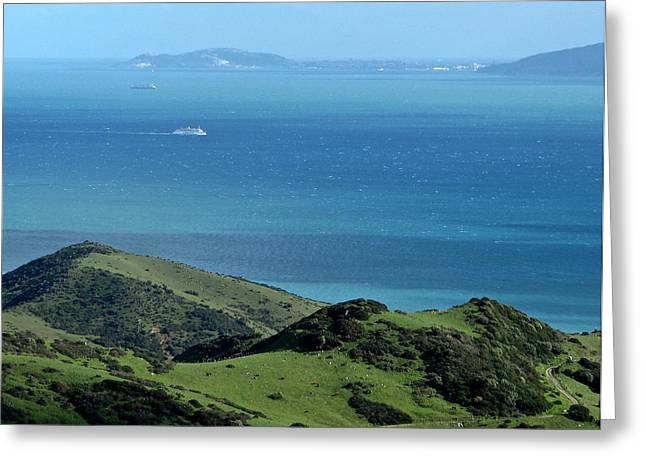 Straits Of Gibraltar Greeting Card