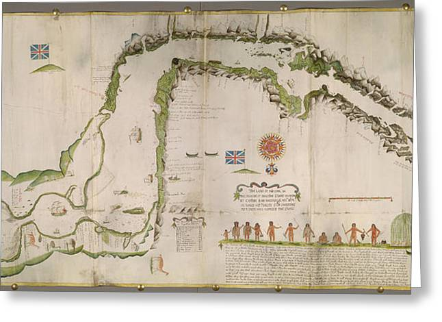 Straits Of Magellan Greeting Card