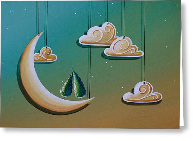 Stranded In The Evening Sky Greeting Card by Cindy Thornton