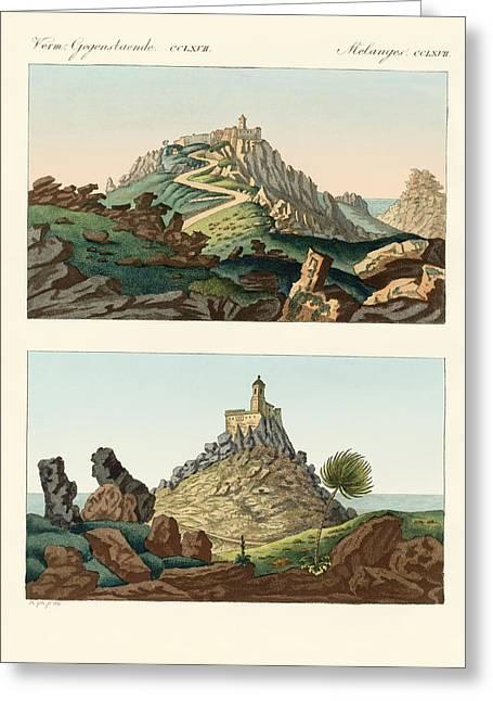 Strange Abbeys In Portugal Greeting Card by Splendid Art Prints