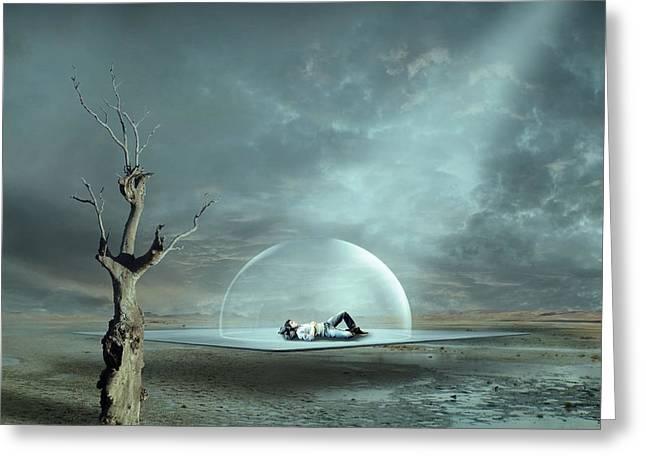 Strange Dreams II Greeting Card by Franziskus Pfleghart
