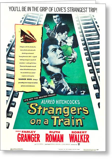 Strangers On A Train - 1951 Greeting Card by Georgia Fowler