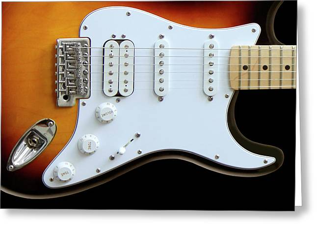 Electric Guitar 1 Greeting Card by Mike McGlothlen