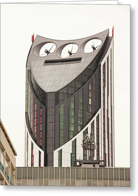 Strata Tower Greeting Card by Ashley Cooper