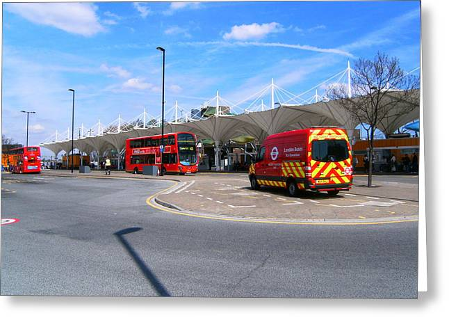 Greeting Card featuring the photograph Stratford Bus Station Study 01 by Mudiama Kammoh