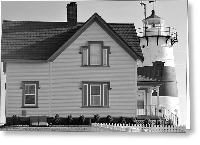 Stratford Point Light 4 Greeting Card by Catherine Reusch Daley