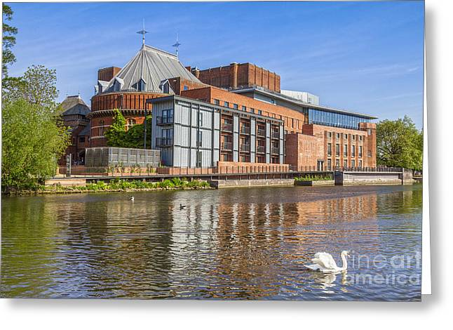 Stratford Upon Avon Royal Shakespeare Theatre Greeting Card by Colin and Linda McKie