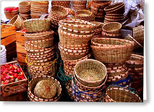 Straw Baskets Greeting Card