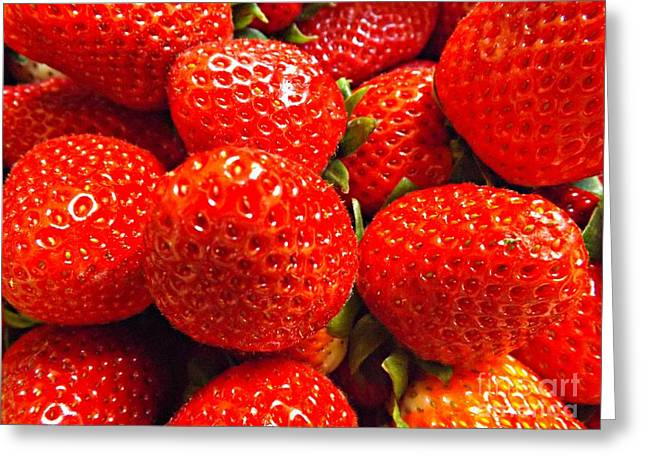 Strawberries Greeting Card by Clare Bevan