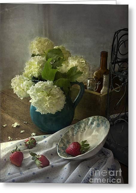 Strawberries Greeting Card by Elena Nosyreva