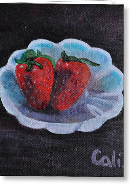 Strawberries In A Dish Greeting Card