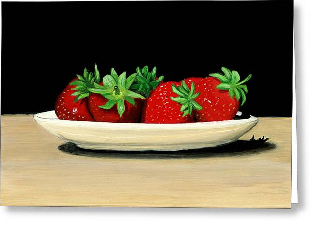 Strawberries Greeting Card by Karyn Robinson