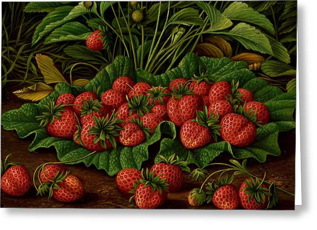 Strawberries Greeting Card by Levi Wells Prentice
