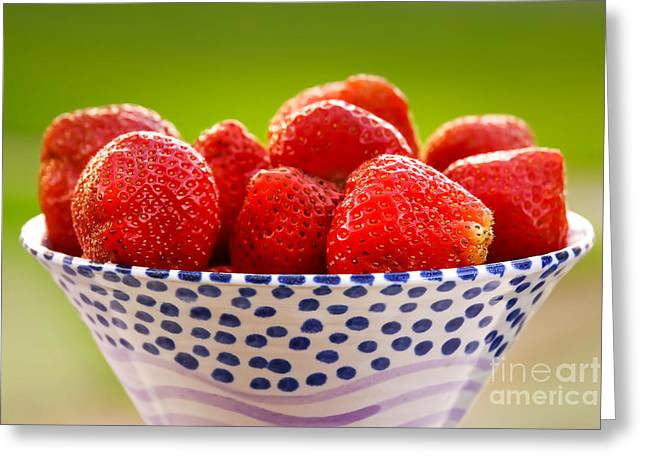 Strawberries Greeting Card by Lutz Baar