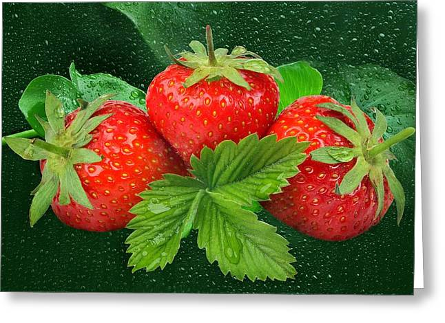 Strawberries Greeting Card by Manfred Lutzius