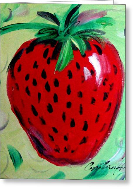 Strawberry Greeting Card by Cynthia Hudson