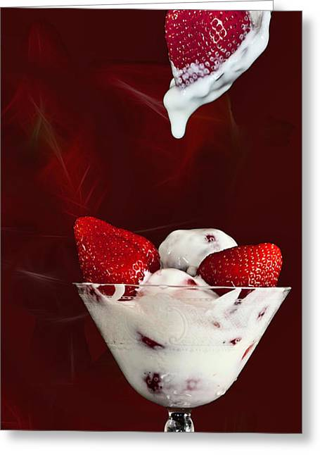 Greeting Card featuring the photograph Strawberry Delight by Shirley Mangini