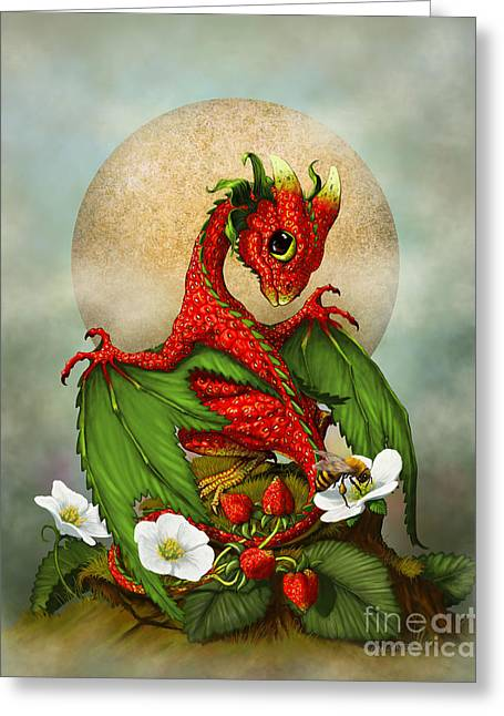 Strawberry Dragon Greeting Card