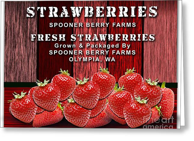 Strawberry Farm Greeting Card by Marvin Blaine