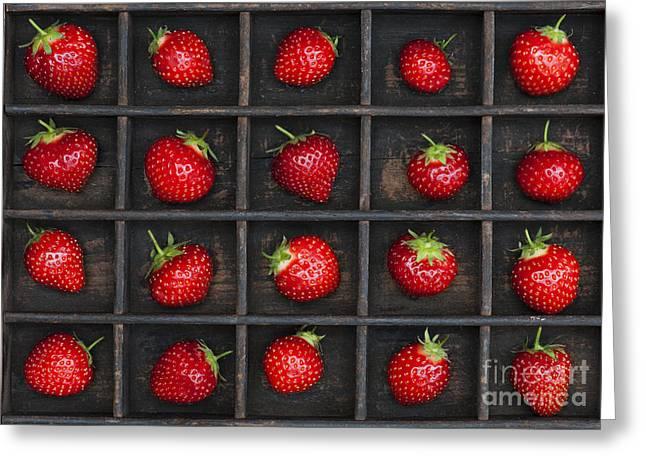 Strawberry Grid Greeting Card