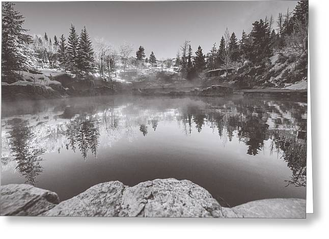 Strawberry Hot Springs Monochrome Greeting Card